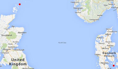 Vindrossel fra Sydlangeland til Orkneyøerne